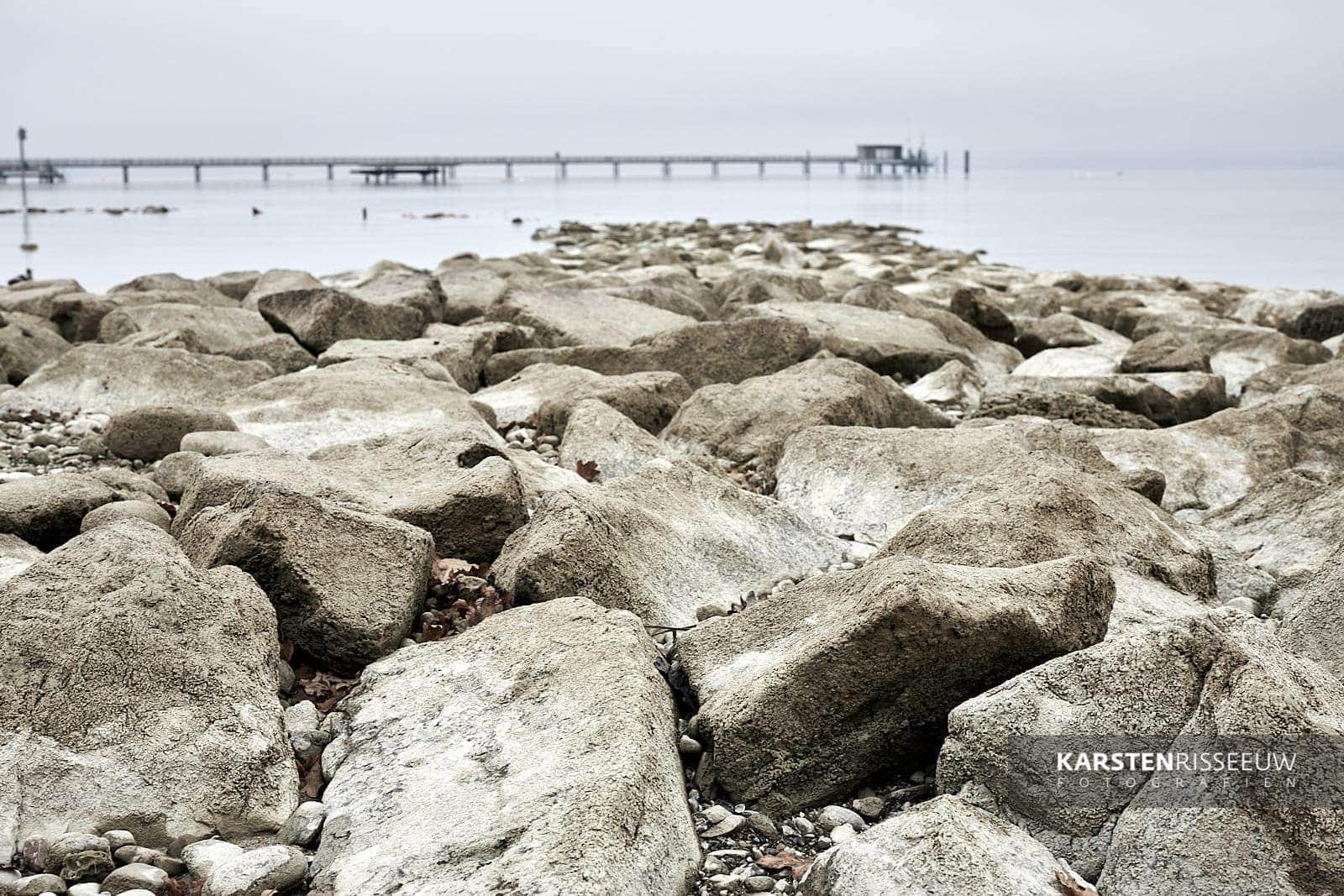 Shipping pier near Altnau on Lake Constance (Switzerland)